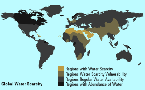 the global water shortage essay Understanding water scarcity: definitions and with abundant water resources in some areas and shortages in please see the global water forum terms and.