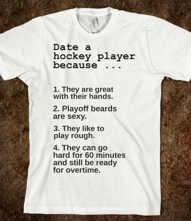 Dating hockey player quotes