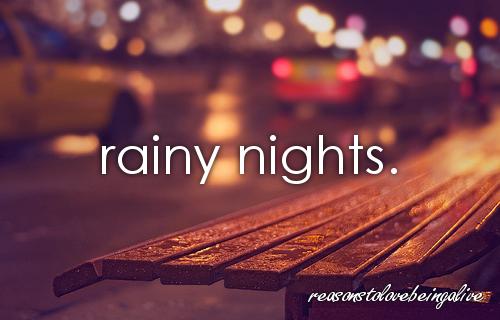 Rainy good night pictures