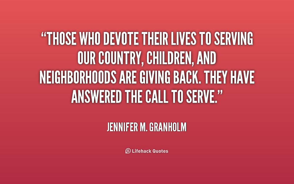 paragraph about how to serve your country