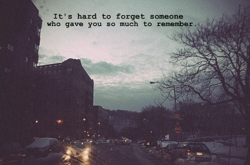 How to forget someone we love