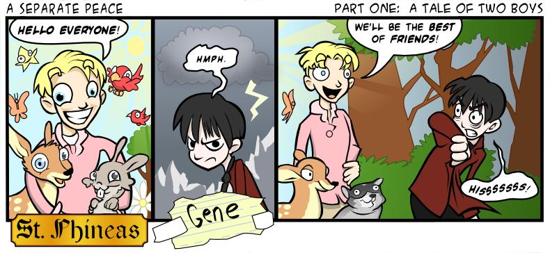 separate peace gene essay
