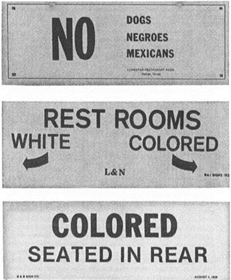 the segregation of blacks and whites In the south in the 1950s, blacks and whites might live next door to one another and still inhabit separate worlds segregation in the south was rigidly enforced by state officials like alabama governor george wallace and it extended from schools to bus stops to restaurants and lunch counters, even to public drinking fountains.