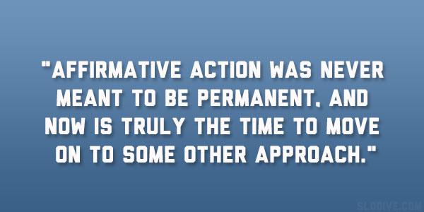 a description of what affirmative action truly means