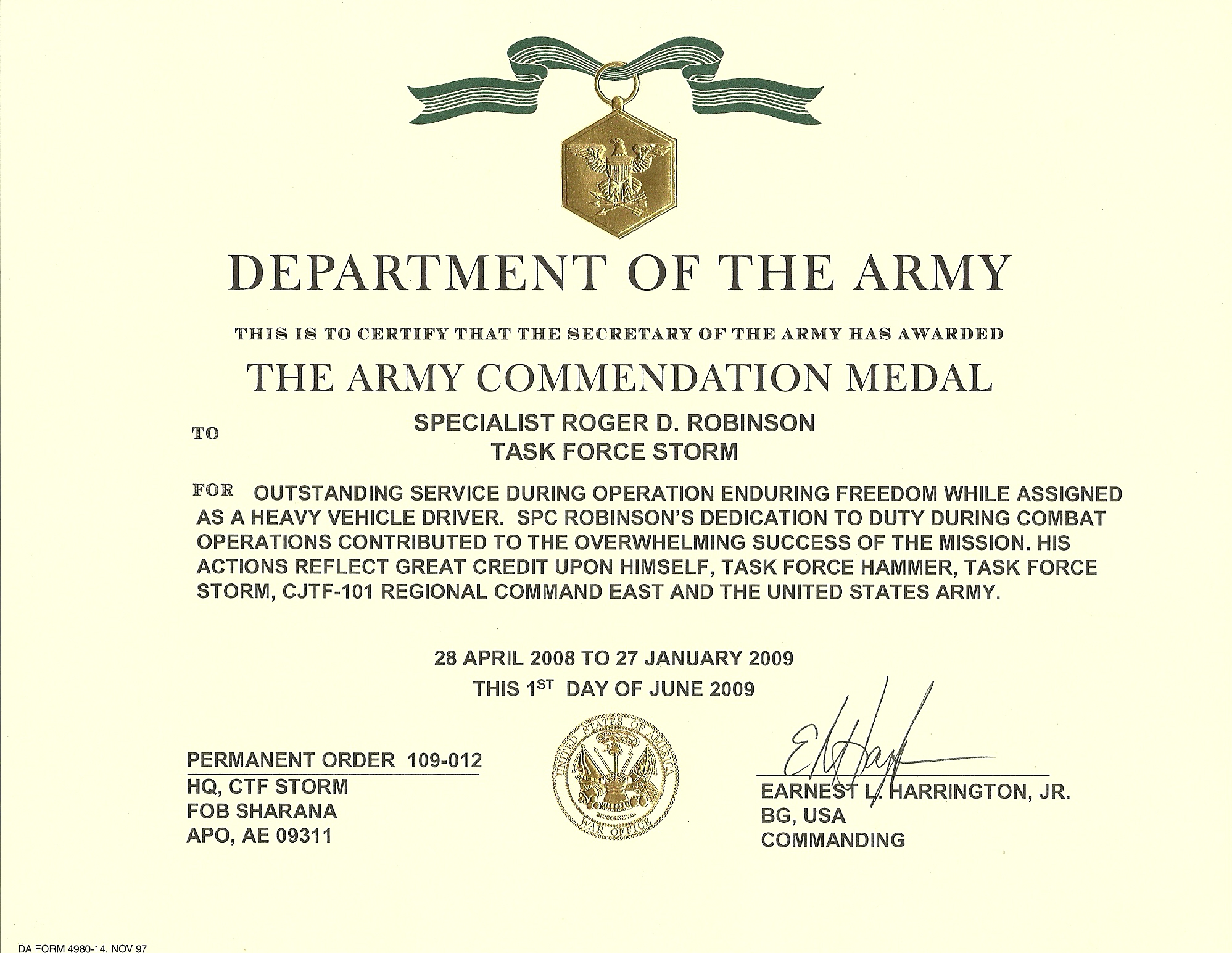 Pretty Army Achievement Medal Certificate Template Photos