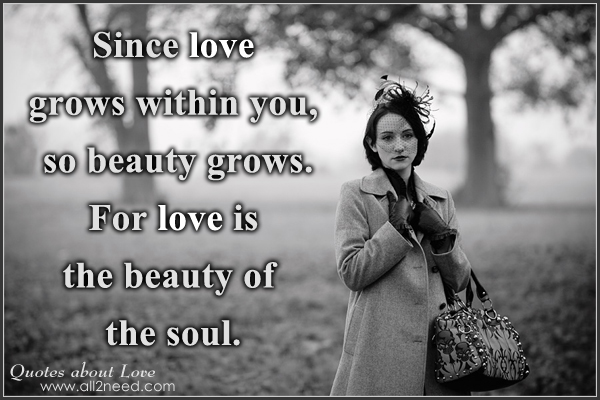 beauty is in the soul