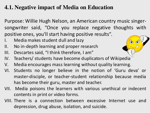 mass media and television as a negative influence on teenagers Finally, martino stressed the need for future research to examine the effects of social media, particularly platforms such as youtube that combine mass media and content with interpersonal influence (eg, comment sections, forums, etc.