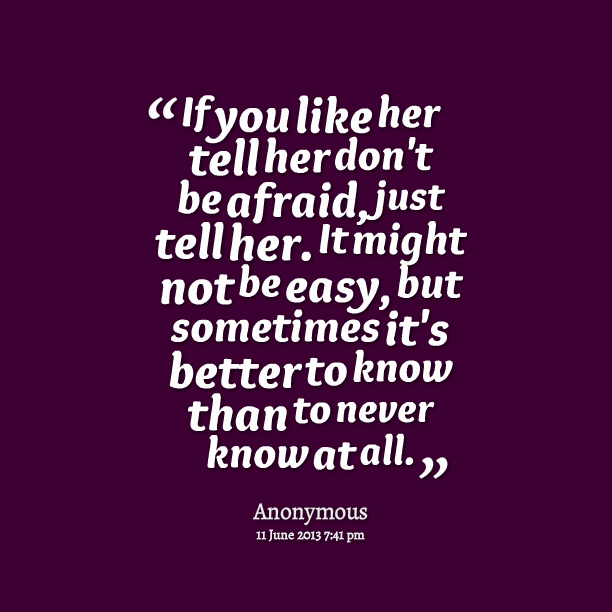 Best quote to tell a girl