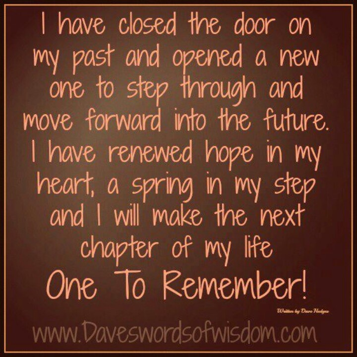 Closing a chapter in my life quotes
