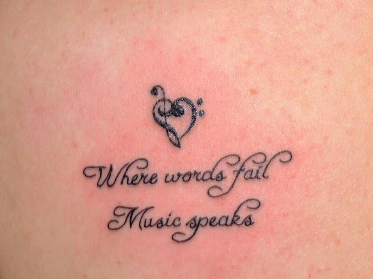 Music Quotes For Tattoo: Quotes About Music Tattoos (34 Quotes