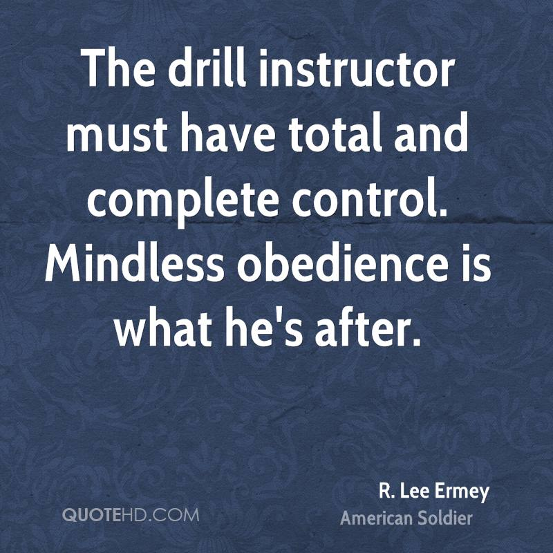R lee ermey drill instructor