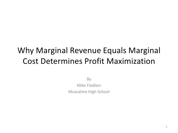 profit maximization vs maxing shareholders wealth essay