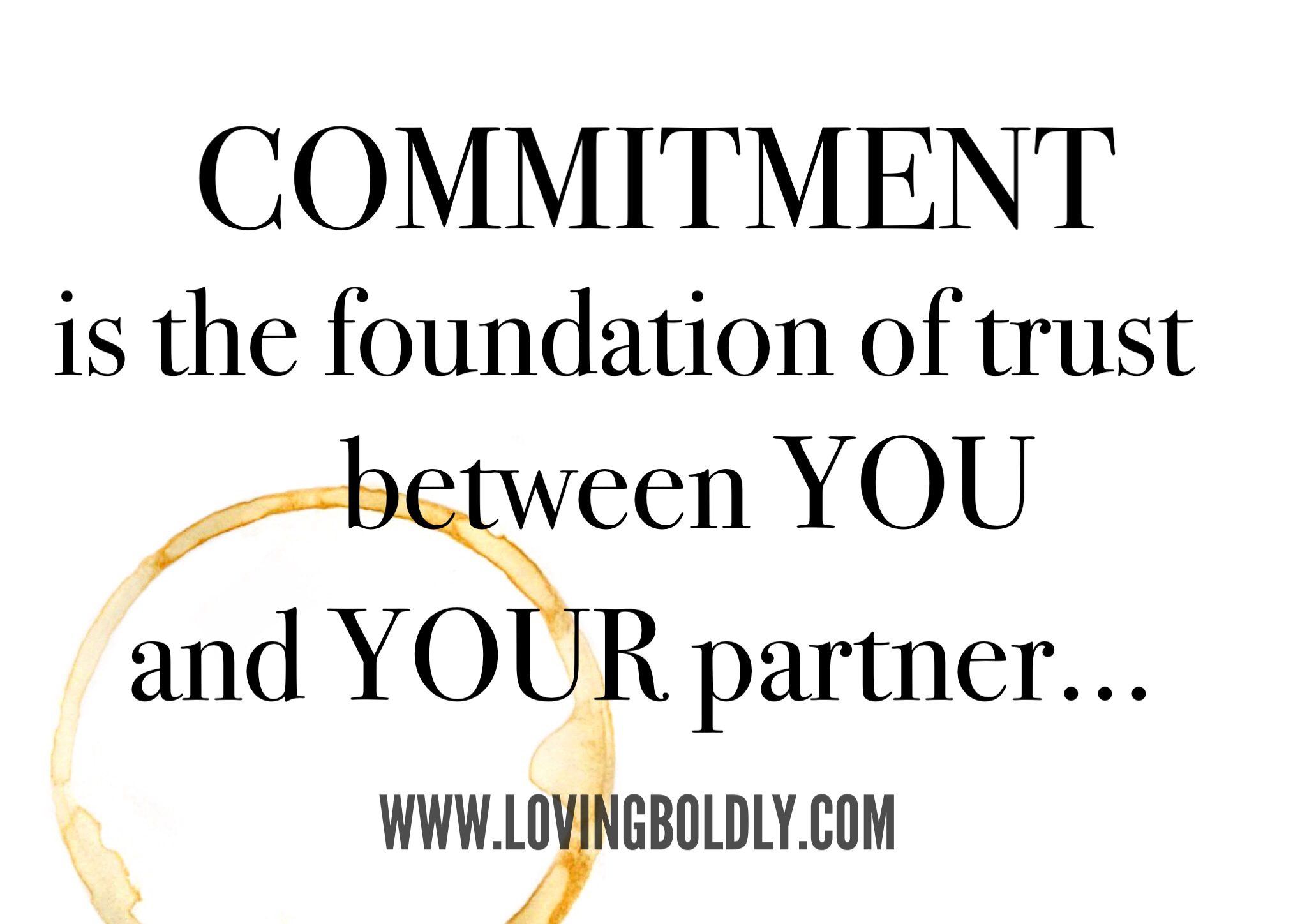 Trust and commitment issues