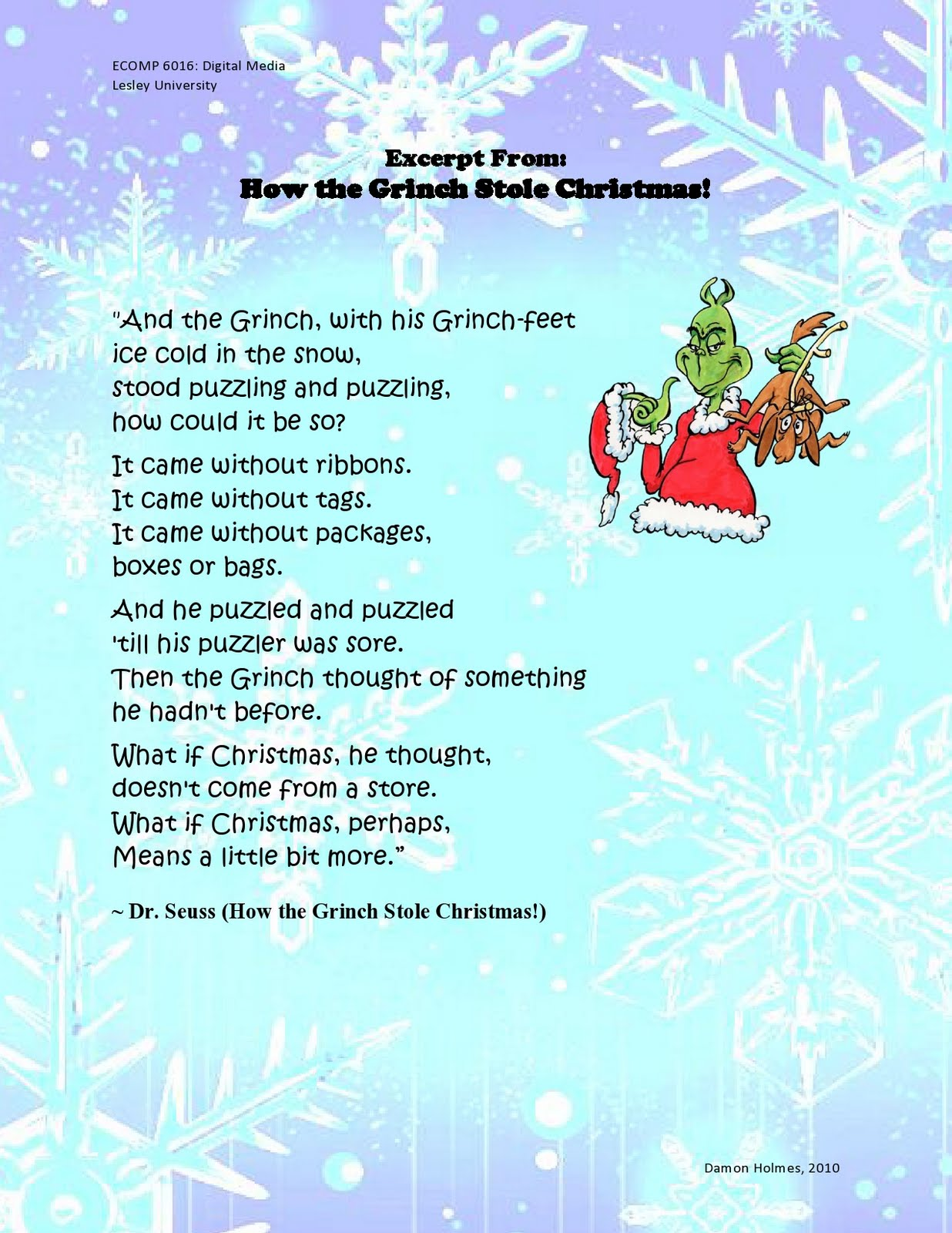 quotes about christmas grinch 28 quotes - Christmas Monologue
