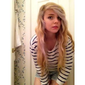 Eyes tumblr girls with blue brown hair