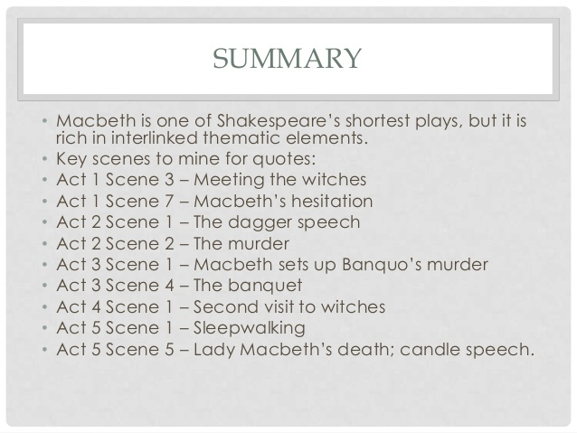 macbeth 20 key quotes for exam revision essay Get free homework help on william shakespeare's macbeth: play summary, scene summary and analysis and original text, quotes, essays essay questions.