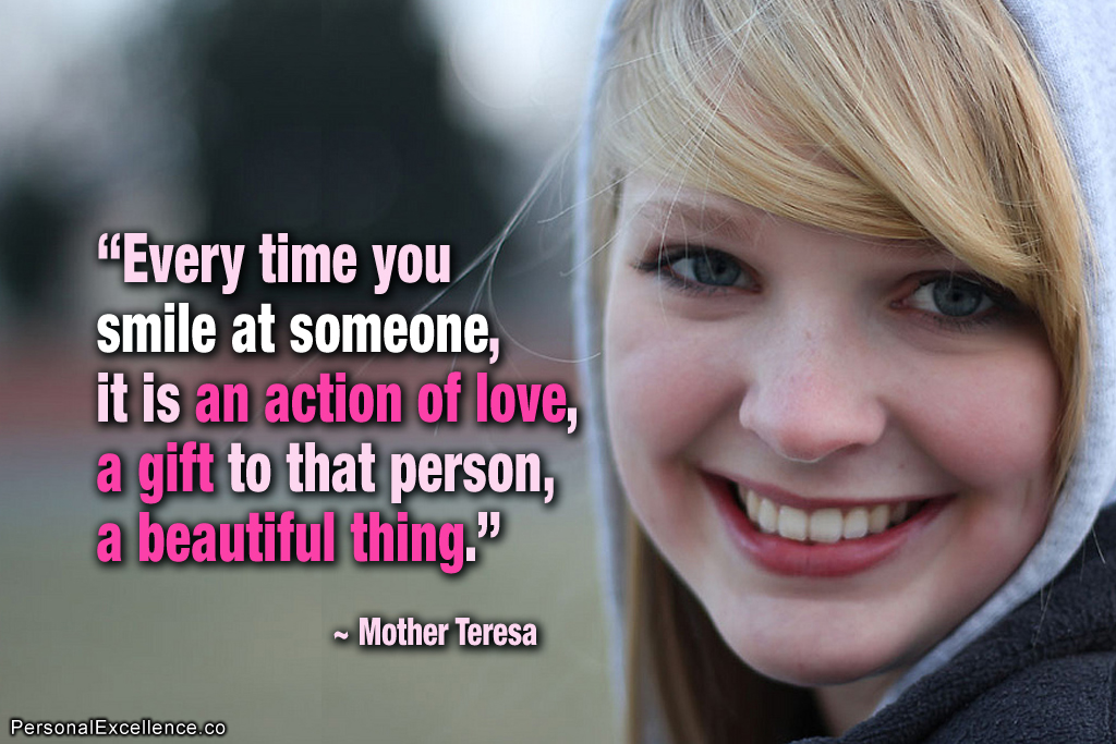 Quotes About Smile Mother Teresa 30 Quotes