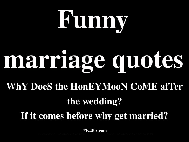 Marriage poster funny