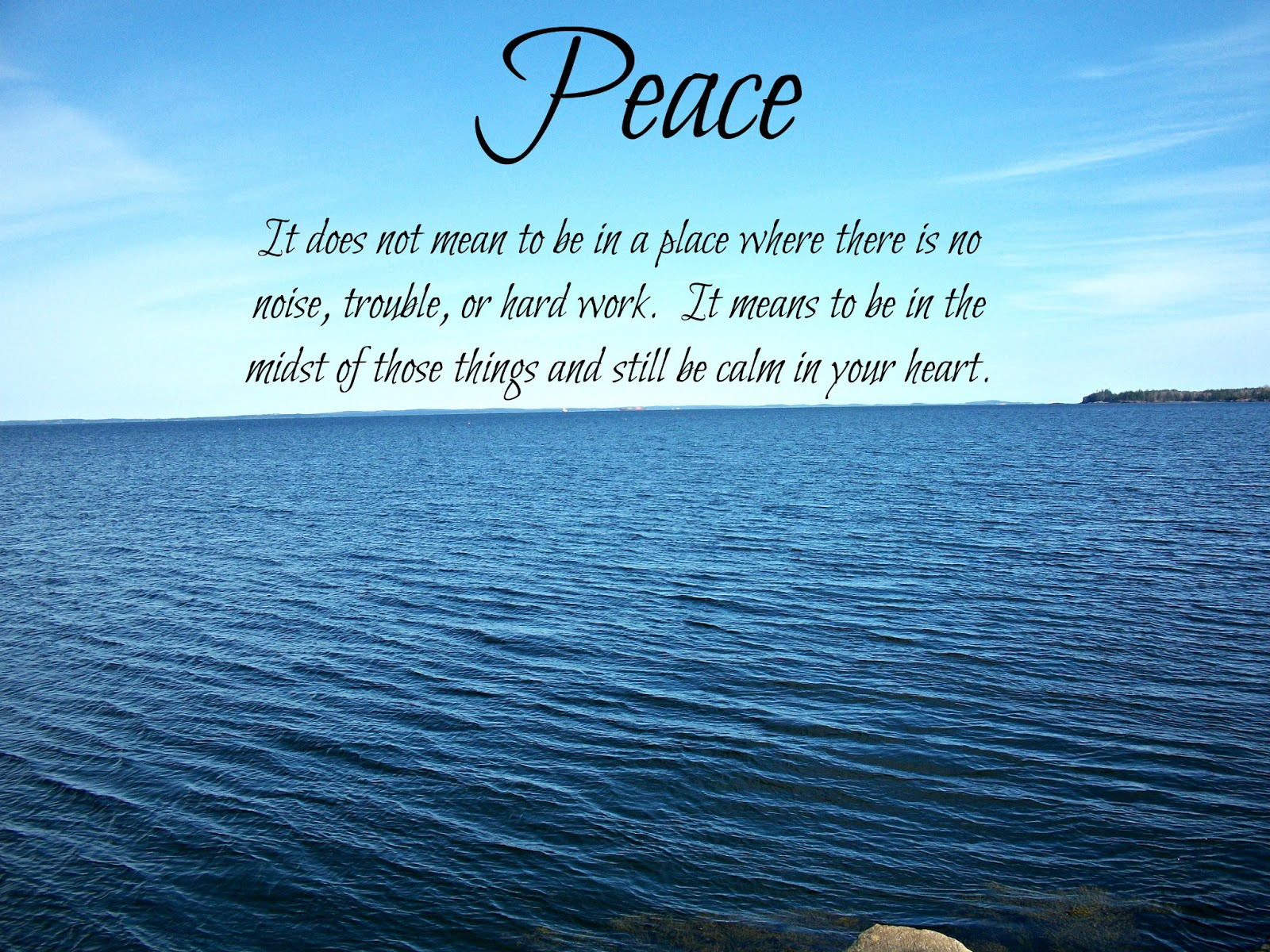 Quotes About Peace In Nature 83 Quotes
