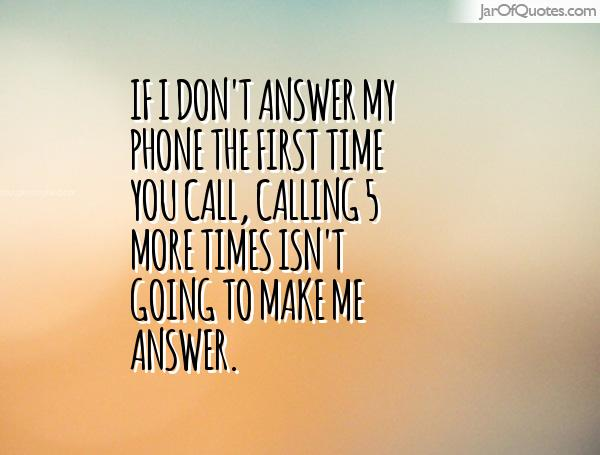 don t phone me
