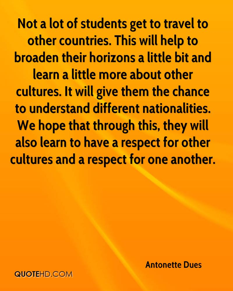 respect other cultures essay Sample essay on culture and thank you very much for your respect to our authors essays, dissertations and other custom writing services inclusive of.