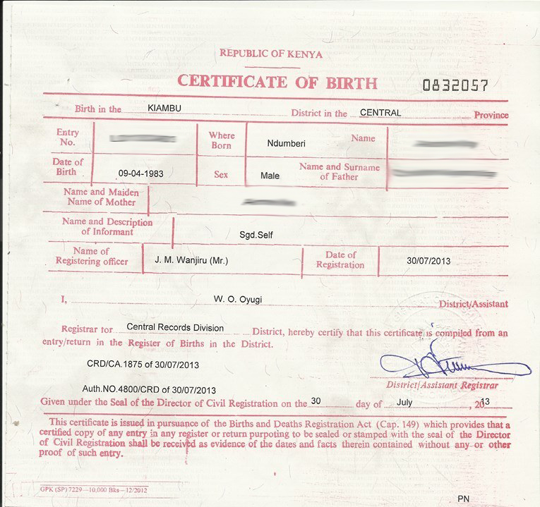 Quotes About Birth Certificate (92 Quotes