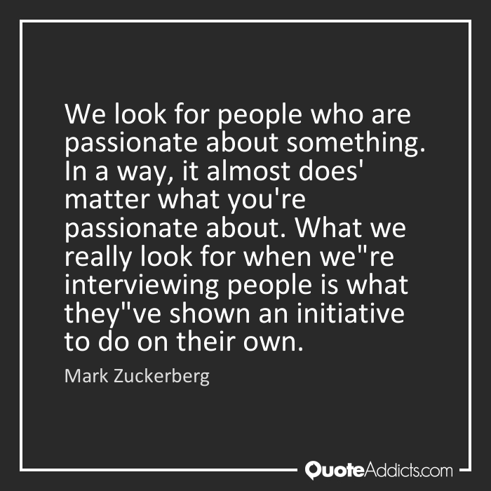 what i am passionate about