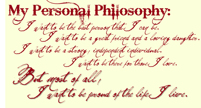 Quotes About Personal Philosophy Of Life