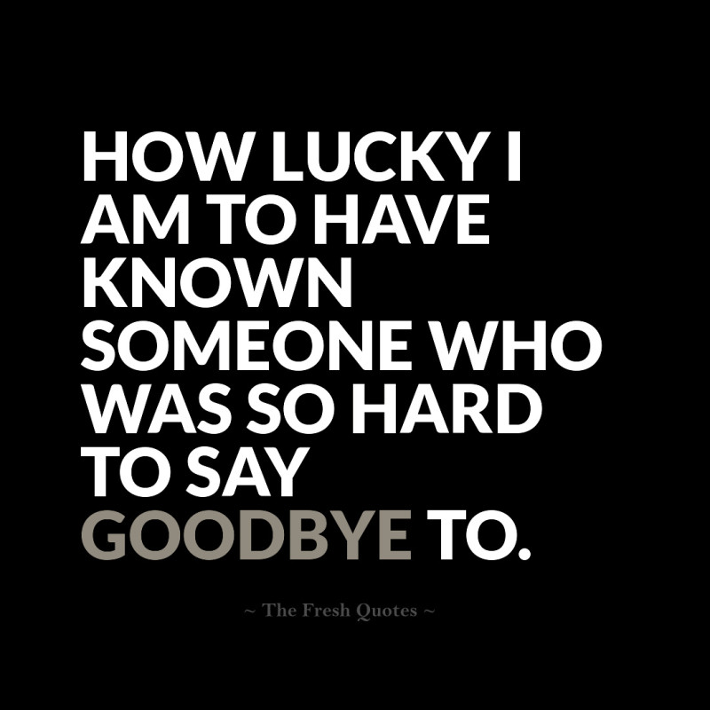 Quotes About Hard To Say Goodbye 16 Quotes