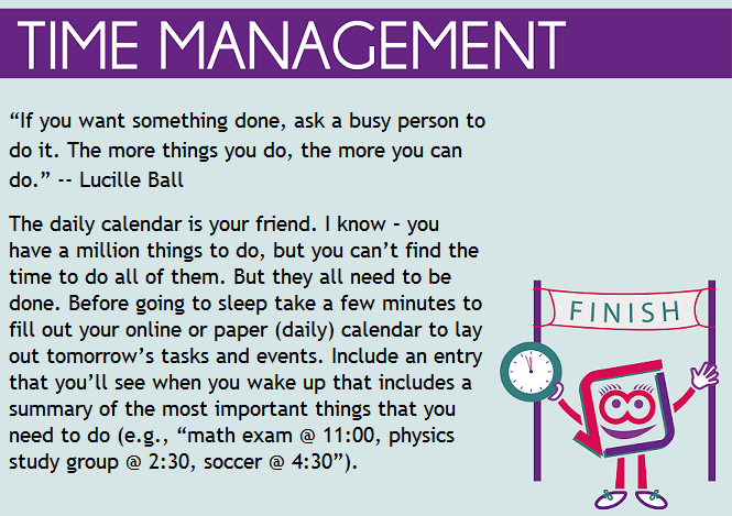 time management as a student