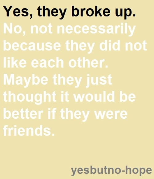 Quotes about Better off as friends (5 quotes)