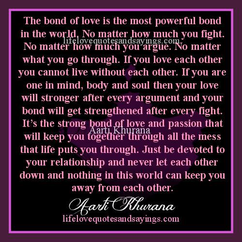 Quotes About Strong Bond 60 Quotes Adorable The Most Powerful Love Quotes