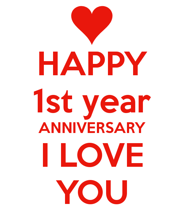First year anniversary