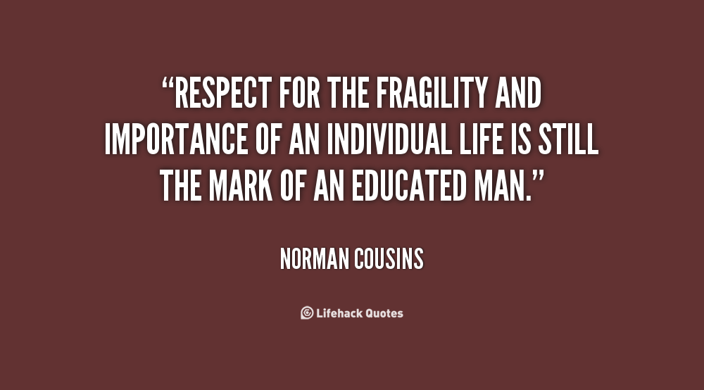 importance of respect in life