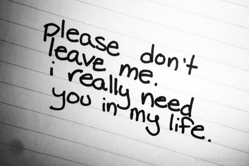 Quotes About Don't Leave Me (92 Quotes