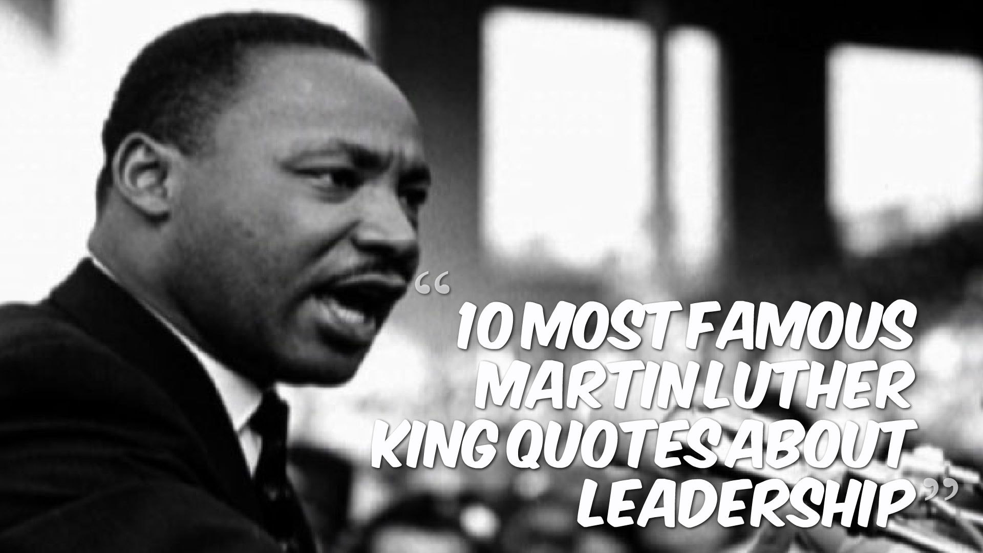 martin luther kings leadership Martin luther king's style of leadership slideshare uses cookies to improve functionality and performance, and to provide you with relevant advertising if you continue browsing the site, you agree to the use of cookies on this website.