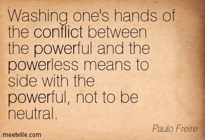 ?conflict occurs between the powerful and the powerless essay International center on nonviolent conflict full text of the iconic essay by vaclav havel—future president of a democratic czechoslovakia—in which havel argues that cultivating an individual sphere of truth will note: this resource contains václav havel's 1979 essay the power of the powerless.