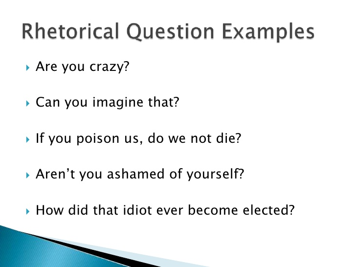 How to answer a rhetorical question in an essay