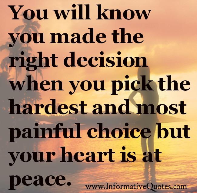 a right choice
