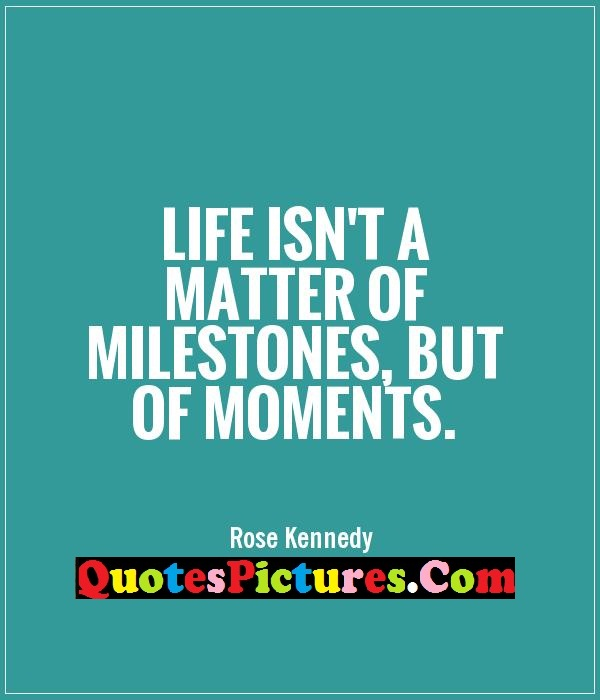 a report on the significant milestones in my life Do you realize the importance of celebrating is the mere fact that we've made it to this point in life  important to celebrate your milestones.