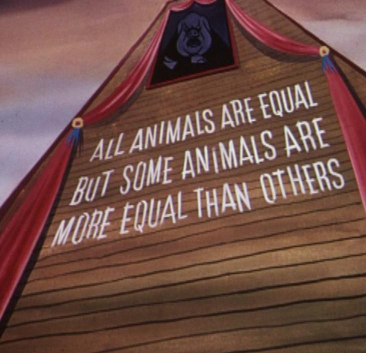 the theme of corruption in george orwells animal farm
