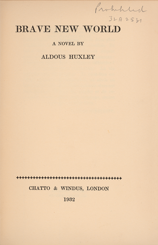 a book report of brave new world a novel by aldous huxley Brave new world: aldous huxley: amazoncomau: books set out in brave new world, his great dystopian novel  report abuse rick 50 out of 5.