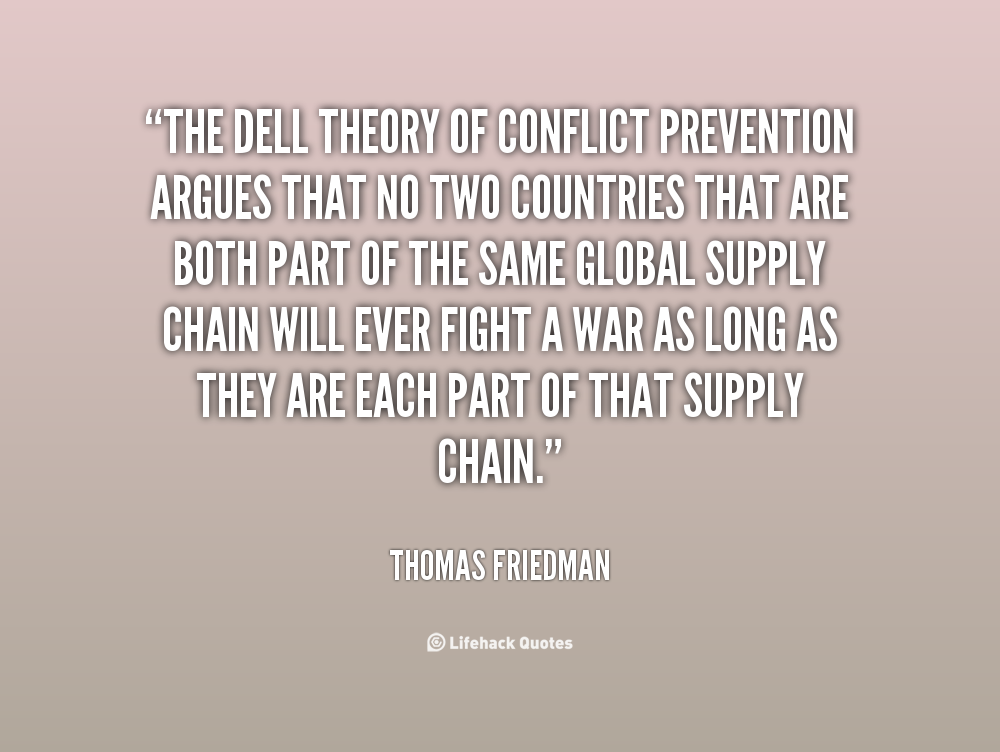 the dell theory of conflict prevention thomas friedman