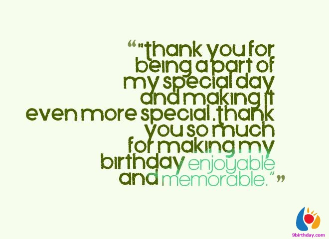 Quotes About Birthday Thank You 27 Quotes