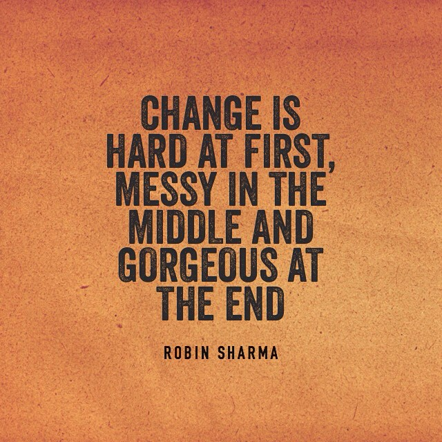 all changes are for the better