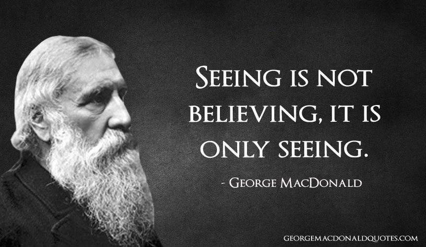 seeing is believeing Seeing is believing, and if an american success is to count for anything in the world it must be clothed in the raiment of property as often as not it isn't the money itself that means anything it is the use of money as the currency of the soul.