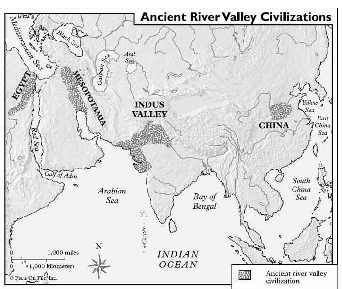 essay early river valley civilizations Dbq essay the ancient river valley civilizations of egypt, china, and mesopotamia all made key contributions to future societies hieroglyphics (4) and cuneiform (1) were both systems of language that helped keep records and track of history and events.