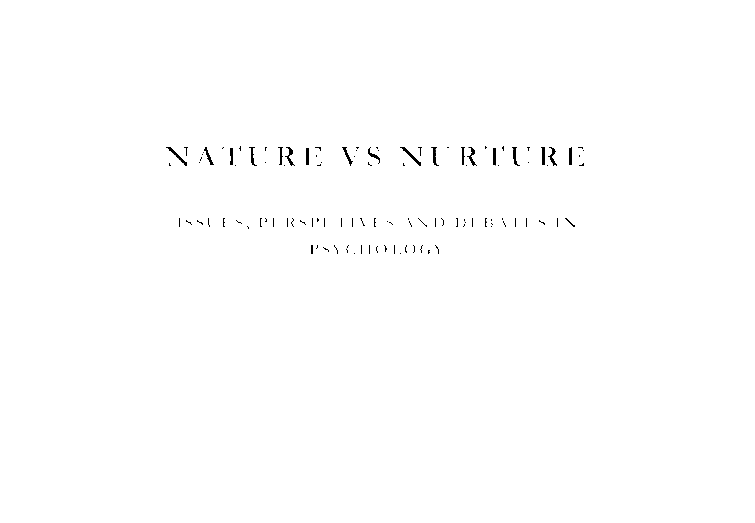 Essays on nature