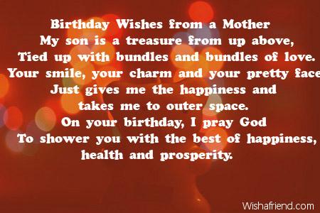 Wishafriend Birthday Son Poemsphp