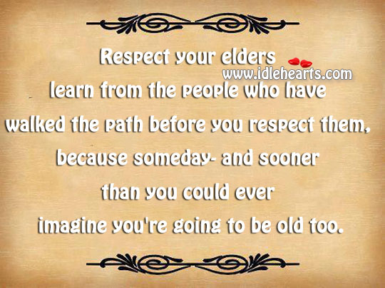 what is respect for elders